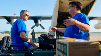First HHS medical support team arrives in Florida Keys
