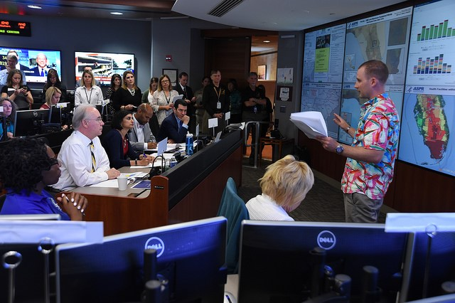 Secretary Price Meets with Top HHS Leaders for Hurricane Briefings