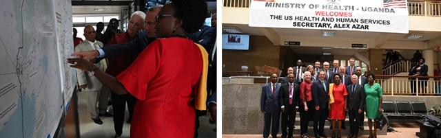 Secretary Azar Meets with Ugandan Minister of Health, Tours Public Health Emergency Response Sites