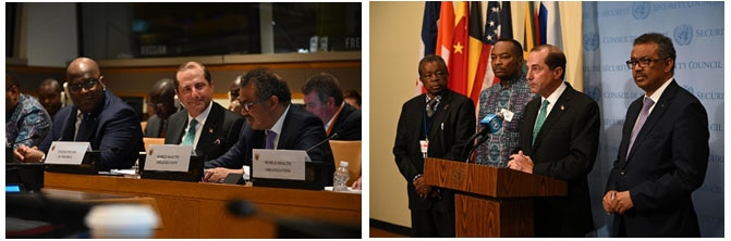 Secretary Azar Attends Meeting of Regional Ministers of Health on Ebola Preparedness and Response at UNGA