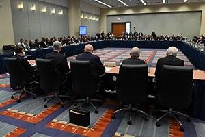 Representatives of Coronavirus Task Force Brief Governors at NGA